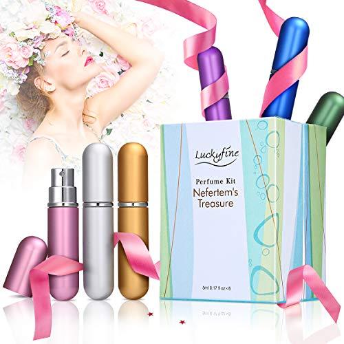 LuckyFine 6 PCS Mini Perfume Gift Set for Women, 6 Scent Kit for Girls Christmas Gift Set