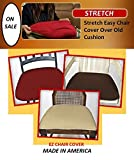 Cheap Ez Chair Covers, Dining Room Chair Covers Pk of 4 WINE RED