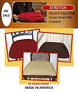 Amazon.com: 6 COVERS!! Dining Room Chair Covers, Ez Chair Covers Pk of 6 Wine Red MAX SIZE 22 ...