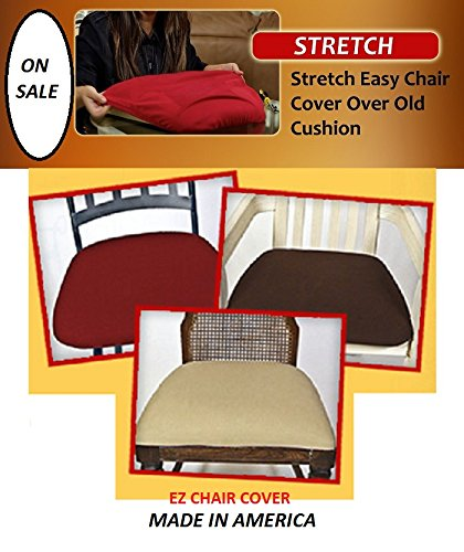 Ez Chair Covers, Dining Room Chair Covers Pk of 4 Brown MAX SIZE (Upholstering Dining Room Chairs)