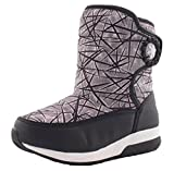 iDuoDuo Boys Girls Warm Faux Fur Cold Weather Boots Strap Closure Anti Slip Boot Black 13 M US Little Kid