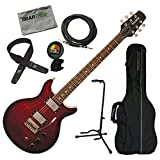 Hamer SATFW-DCB Dark Cherry Burst Double Cut Electric Guitar w/Gig...