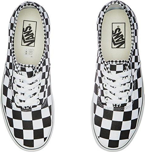 Vans Authentic(TM) Core Classics (41 M EU/10 B(M) US Women/8.5 D(M) US Men, (Mix Checker) Black/True White) (Black 10 Authentic Vans Classic)