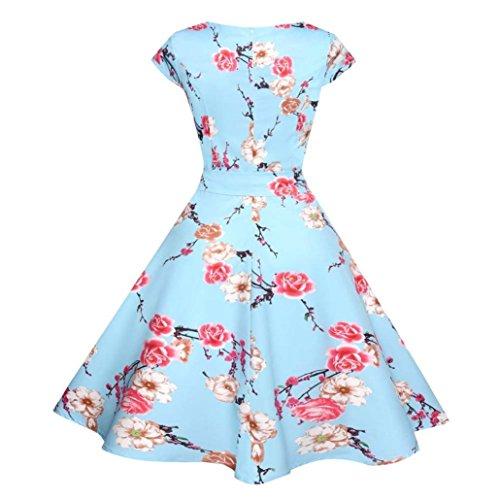 ... Kleid Damen Sommer Bekleidung Damen Kleider Kleid Damen Elegant FüR  Hochzeit  WINWINTOM 50s ... b9d219a556