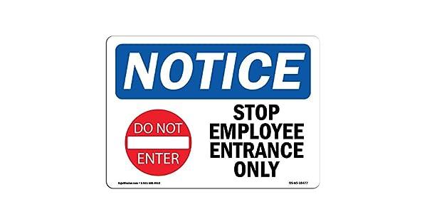 Amazon.com: Aviso de OSHA – Detener entrada para empleados ...