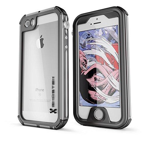 DualPro Shockproof Case for Apple iPhone SE/5S/5 (Black) - 3
