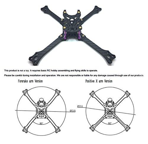 211mm FPV Frame Racing Quadcopter Kit Carbon Fiber Forerake X Arm Frame Kit by Crazepony (Forerake Frame Kit) by Crazepony (Image #4)