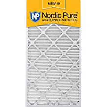 Nordic Pure 16x30x1 MERV 10 Pleated AC Furnace Air Filter,  Box of 6