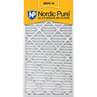 Nordic Pure 12x30x1M10-2 MERV 10 AC Furnace Filter 12x30x1 Pleated Merv 10 AC Furnace Filters Qty 2