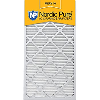 nordic pure 14x30x1 merv 10 pleated ac furnace air filter, box of 6 ...
