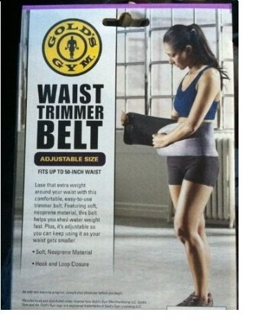 Golds Gym Trainer (Golds Gym waist trimmer belt - Adjustable size fits up to 50 inch waist)
