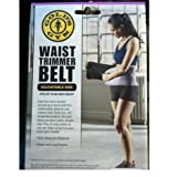 Golds Gym waist trimmer belt - Adjustable size fits up to 50 inch waist trims down waist