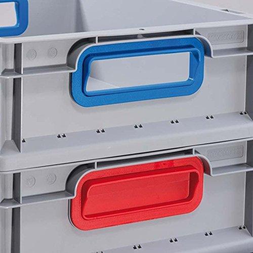 Allit 456710 Eurobox422 15.75x11.81x8.66 Closed Handles In Grey//Red