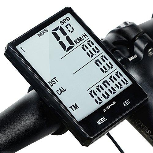 INBIKE Wireless Bike Computer, Multi Function Waterproof Bicycle Speedometer with Backlight