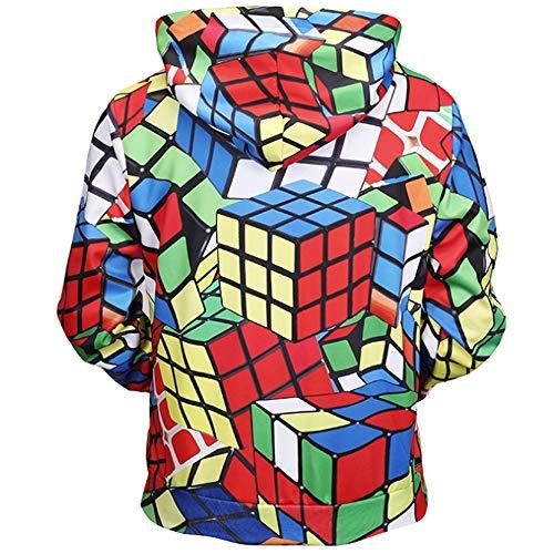 Con Ajustable Suéter Slim Hombre Capucha Impresiones 3d Fit Atlético Casual Cubo Rubik Wsjs Bolsillos Clásico Y Jersey Para Sudadera Delanteros S65BqB