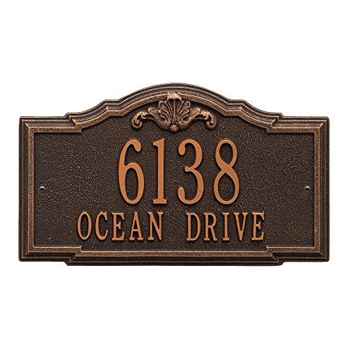 (Whitehall Custom Gatewood Standard Wall Aluminum Address Plaque 14.25