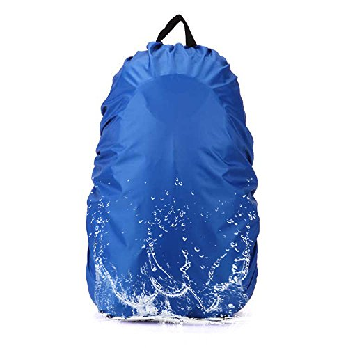 Camping Backpack Rain Cover, AYAMAYA 45-65L Waterproof Backpack Elastic Water Cover Rucksack Water-resist Dustproof Cover for Hiking Camping Traveling -Blue