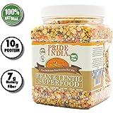 Pride Of India - Indian Bean & Lentil Superfood - Five Delicious Panchratna Dal Mix, 1.5 Pound Jar