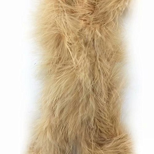 Feathers Sewing Crafts Decor for Dress Costume 4-6inch Yards Erikord Natural Ostrich Feather Fringe Trim 2 Yards,Beige