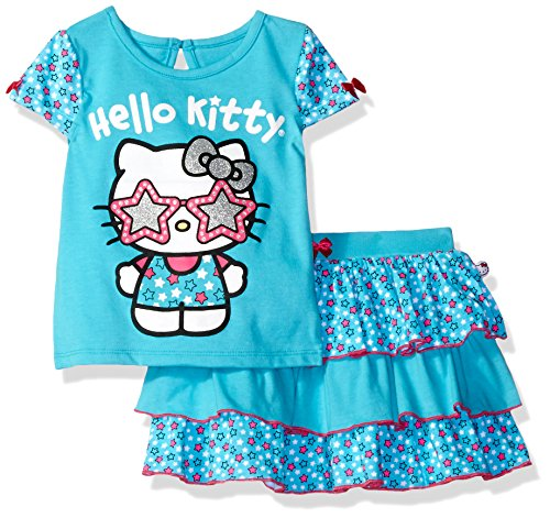 Hello Kitty Little Girls' Toddler 2 Piece Skirt Set, Capri, 2T