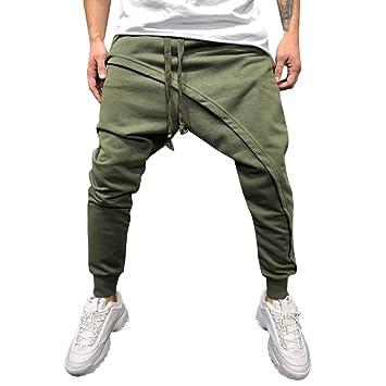 Pantalones de chándal para Hombre HANANei, Informal, Holgados ...