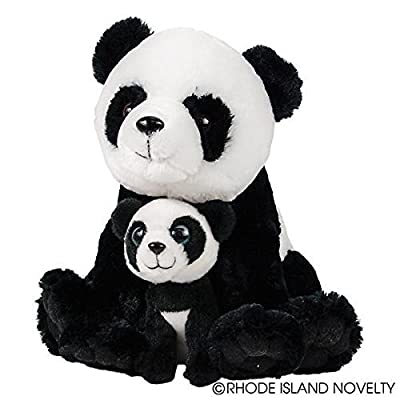 "Adventure Planet Birth of Life Panda with Baby Plush Toy 11"" H: Toys & Games"