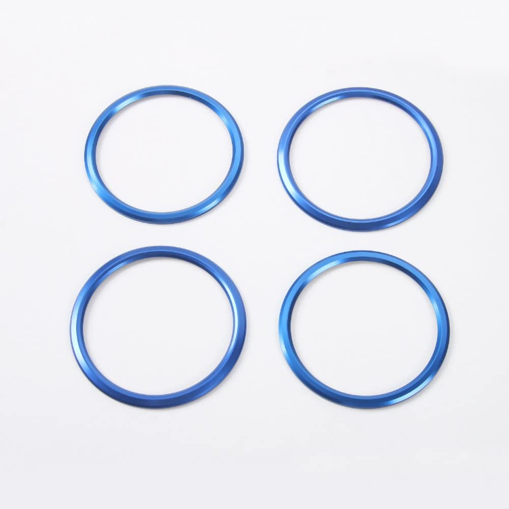 4pcs Blue Air Conditioning Air Outlet Vent Cover Ring Decor Sticker For Chevrolet Camaro 2017+