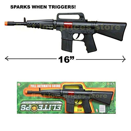 16 Kids Toy (CAR-15 CARBINE M-16 TOY ASSAULT RIFLE KID BOY MACHINE GUN SOUND MILITARY ARMY)