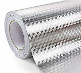 Bestevers Kitchen waterproof aluminum foil stickers Anti greasy Counter Top Peel Stick Wall Decal,24''x78'' (WZ-2)