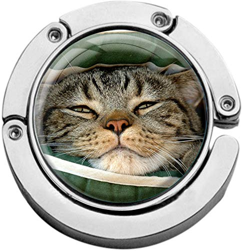 metALUm Taschenaufh/änger Handtaschenhalter Katze mit faltbarem Magnetverschluss #2601033