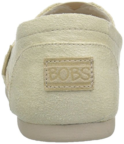Skechers Bobs Från Womens Luxe Fashion Slip-on Flat Naturliga Mocka