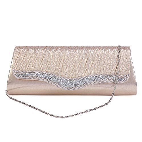 Bag Blue Sparking Crystals Womens Damara Evening Flap Crossbody Prom aq0wPH7