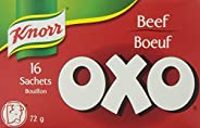 Knorr OXO Sachets Bouillon for Adding Rich Deep Flavour to Soups and Stews Beef Quick to Dissolve 72 GR 16 Cou