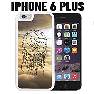 iPhone Case Light Color Dream Catcher for iPhone 6 PLUS Rubber White (Ships from CA)