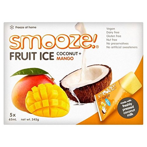 Smooze Mango Fruit Ice Lollies 5 x 65ml - Pack of 2