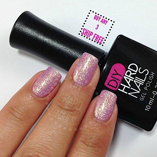 Nails Polish Crystal (Pink Shimmering UV Soak Off Gel (Shellac) Nail Polish - Pink Crystal - Professional Grade - Requires UV or LED Nail lamp - BONUS DIY Gel eGuide Included)