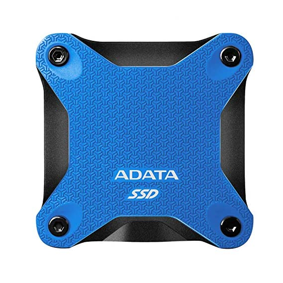 ADATA SC685 Shock and Vibration Resistant External SSD with Advanced 3D NAND Flash and Read Speed up to 530 MB/s (500 GB, Black)