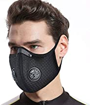 FLAE Dust Mask Reusable Face Mask with Activated Carbon Filters Respirators Mask for Working Protection, Trave