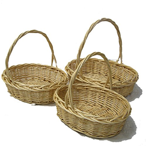 Vintage & Retro Handbags, Purses, Wallets, Bags The Lucky Clover Trading Willow Indo Oval Handle Baskets Set of 3 $41.16 AT vintagedancer.com