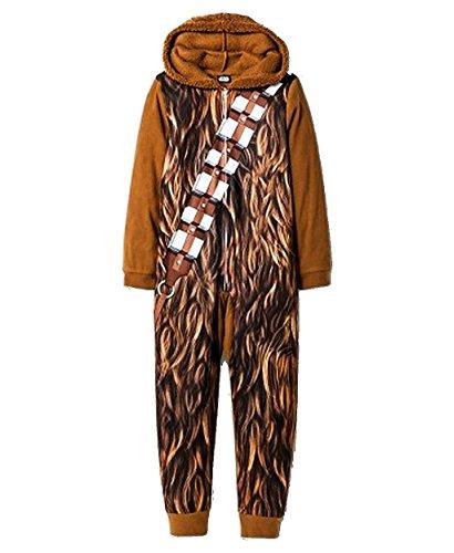 [STAR WARS Boy's Size Small 6/7 CHEWBACCA Wookie Footless Pajama Sleeper] (Baby Wookie Costumes)