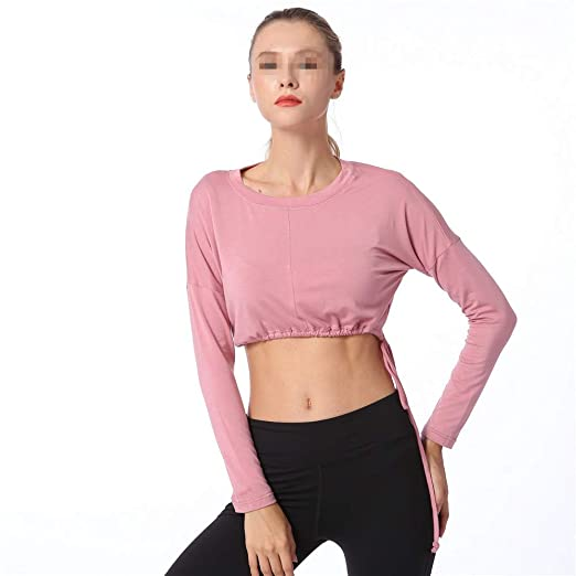 Wuxingqing Camiseta de Entrenamiento de Yoga para Mujer Ropa ...
