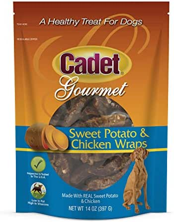 Dog Treats: Cadet Gourmet Sweet Potato & Chicken Wraps