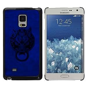 Shell-Star Arte & diseño plástico duro Fundas Cover Cubre Hard Case Cover para Samsung Galaxy Mega 5.8 / i9150 / i9152 ( Blue Door Wolf )
