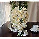 JASMINELOVER-Artificial-Rose-Cascading-Bridal-Bouquet-26-Heads-Flower-for-Wedding-Bouquet-Flowers-Bunch-Hotel-Party-Garden-Floral-Decor-Milk-White