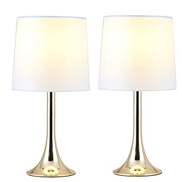 Delica Home Modern Simple Table Lamps Set Of 2 Mini Desk Lamps Side