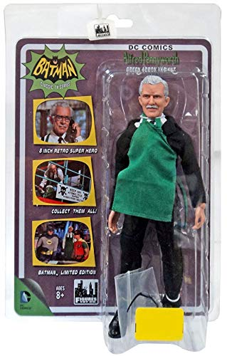 (Batman Classic 1966 TV Series 8 Inch Action Figure Alfred Pennyworth Green Apron Version)