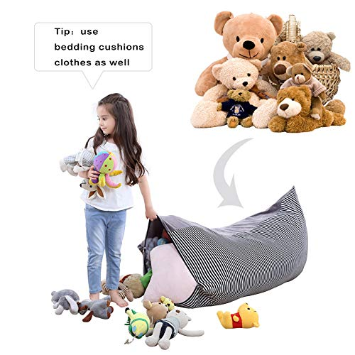 Eforstore Toy Storage Bag Crystal Velvet Storage Bag Thickened Portable Large-Capacity Woven Moving Bag by Eforstore (Image #2)