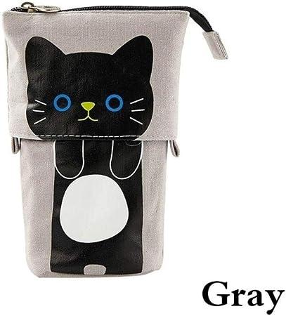 WND - Estuche flexible para lápices de tela, diseño de gato: Amazon.es: Hogar