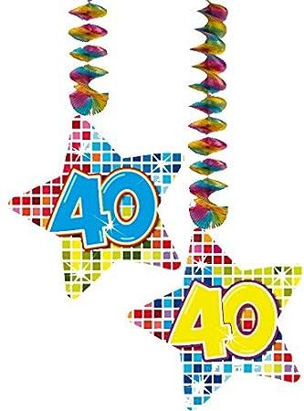 2 x Techos Decoración * 40 cumpleaños * Cumpleaños para ...