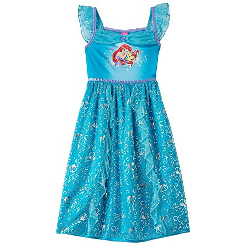 Disney Princess Girls Fantasy Gown Nightgown (Disney Princess Gowns For Kids)
